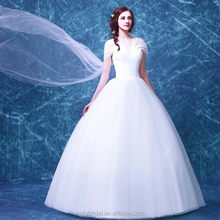 ZM 16121 big long sash off-shoulder tulle ball gown wedding dress romatic princess style beautiful wedding gowns