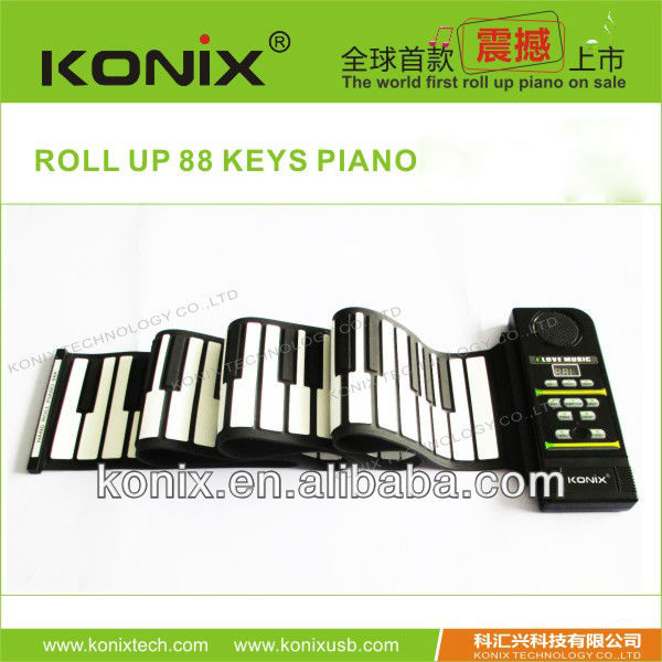 for promotion 61 Keys Flexible Piano Hand Roll Up Piano