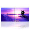 Beautiful Seascape Painting 2 Panels/Sunrise on Sea Wall Art/Home Decor Artwork