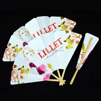 Paper printing promotional cheap folding hand fan
