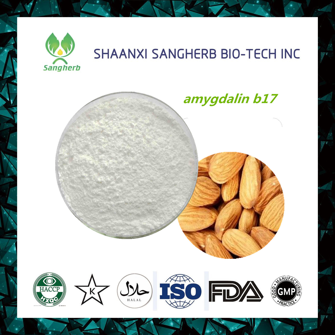 Manufacturer Supplier injection amygdalin powder 99% with great price