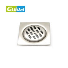 GUIDA wholesale stainless steel concealed bathroom balcony shower room grating washing machine drainage cleaner floor drain