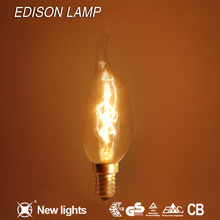 America simple creative style factory price C35T 25W CE ROHS warm light edison lamp edison professional speaker