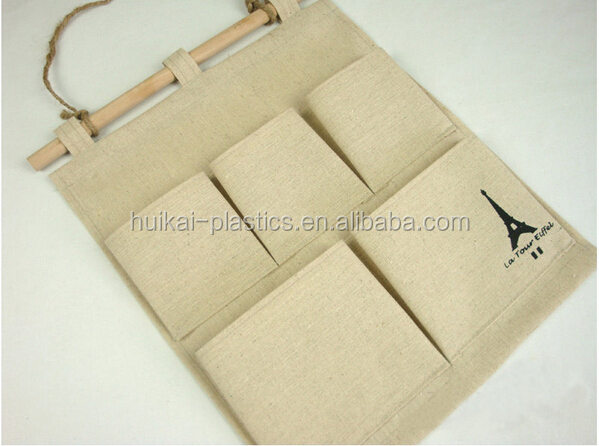 Foldable Non-woven fabric hanging wall/door pocket storage organizer
