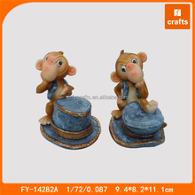 Cowboy style resin new year monkey sulpture monkey statues