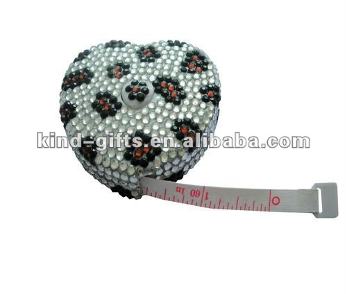 Bling rhinestone measure tape crystal tape measure