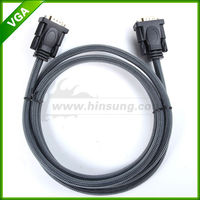 Factory cheap price coaxial vga male to male cable with nylon