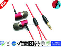OEM fashionable and comfortable silicon earphone/headphone/earbuds with high quality