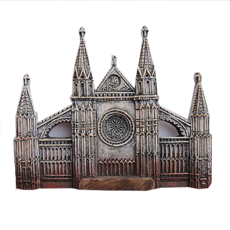 High Quality Miniature Building Resin Statue