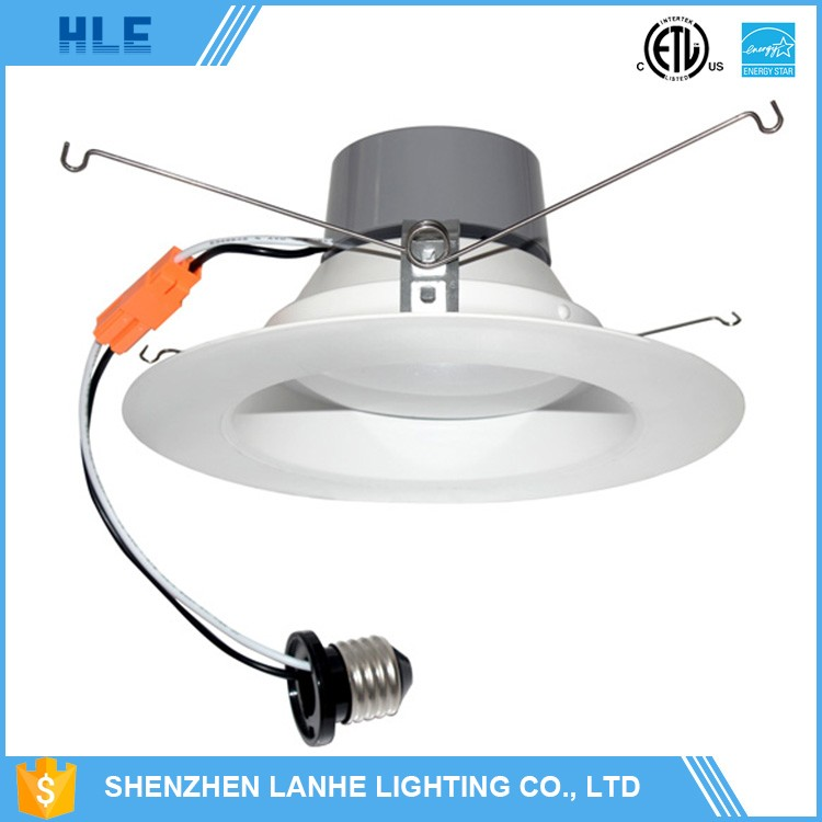 UL ETL ES led recessed 6 inch downlight retrofit kits with white trim can light 12W CRI90