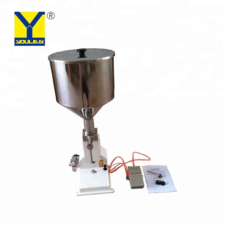 <strong>A02</strong> Pneumatic Liquid Volumetric Filling Machine Semi- automatic Liquid Filling Machine