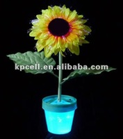 12 LED color changing optical fiber sunflower flashing decorative colorful christmas light for decoration/parties