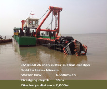 Cutter Suction Dredger Type and NEW condition river sand suction dredger vessel for sale to Bangladesh