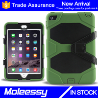 Hot selling unique waterproof professional universal rugged tablet case for ipad mini 4