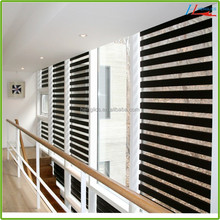 Home Decor Window Zebra Roller blinds with pleats