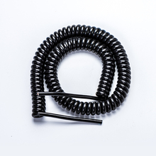 Low Voltage Cable two cores coiled rubber sheath power cord PUR insulated two cores coiled rubber sheath power cord