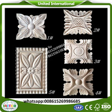 carving rosettes antique wood onlays
