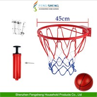 Hanging Basketball Goal Wall Mounted Hoop Rim Net Metal Sporting Netting Goods