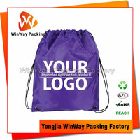 Factory Price Cheap Plastic Drawstring Backpack Bag