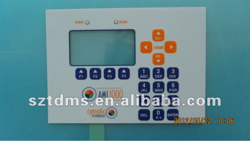 Electric Matrix Metal Clik domes Keypads Membrane Switch with Clear LCD Window Tint