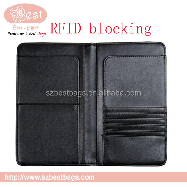 2017 RFID passport leather wallet for men