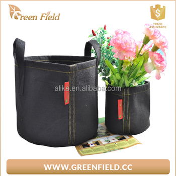 Felt grow bag with handles ,felt flower pot