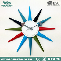 16 inch sun shape plastic wall clock