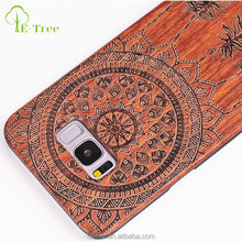 Beautiful Hard real wood mobile phone back cover bamboo case for samsung s8