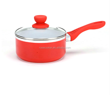 Nonstick Handy Pot Sauce Pan with Ears and Glass Lid, High-grade Environmental Protection