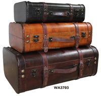 RETRO Antique Old Looking Wooden Suitcase