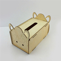 hotel rectangle tissue box with naimal shape