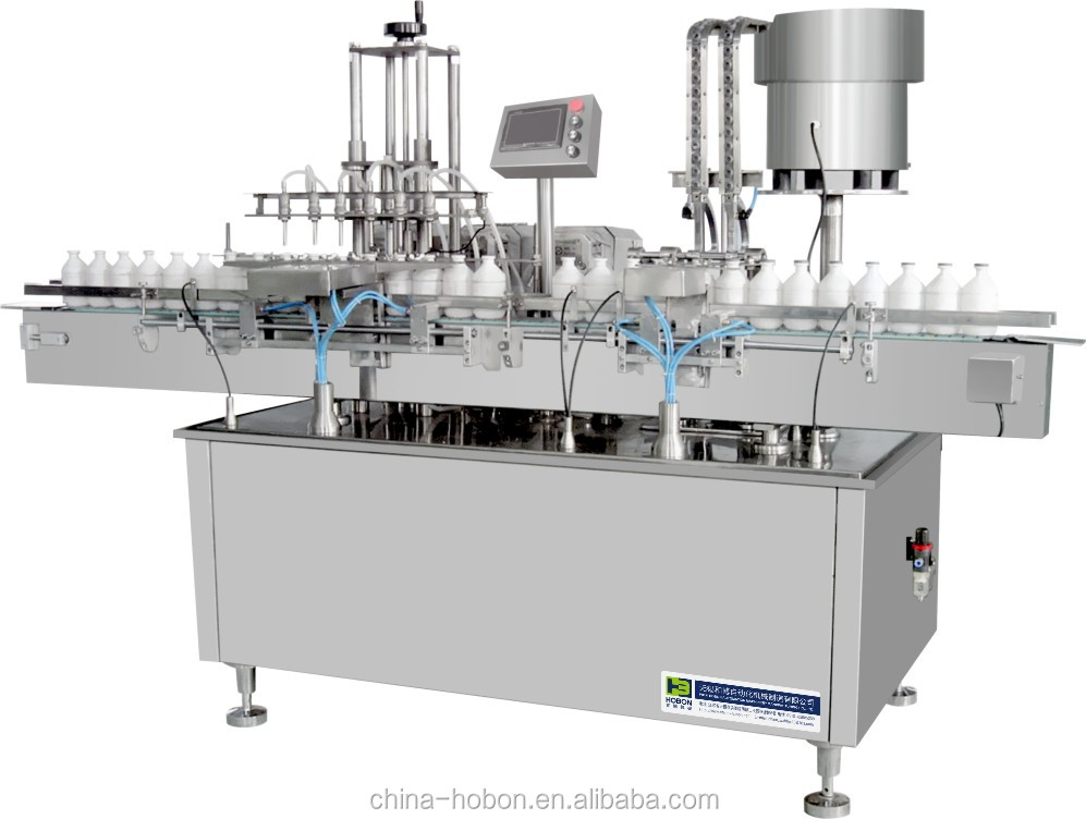 Two or four head small scale glass bottle filling machine price favorable