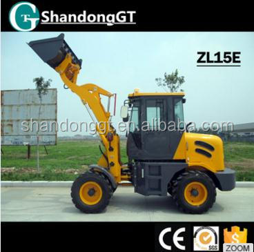 High Quality New Tractor Front End Loader 1500kg Mini Compact Wheel Loader Backhoe Excavator For Sale