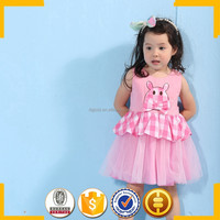 New model girl dress frock design for cutting 3 year old girl dress