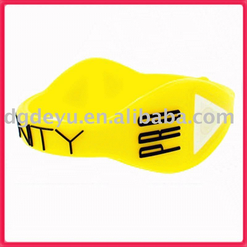 Promotion silicone wristbands yellow