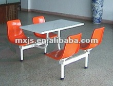Canteen tables and chairs for 4 seaters restaurant set