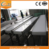 China Alibaba supplier Food industry PU belt stainless steel material conveyor