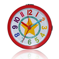 9 CM Round Shaped Red/Blue Simple Decorative Customizable glass wall clock