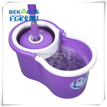 Platinum Spin Mop With Purple Mini Bucket No Foot Pedal