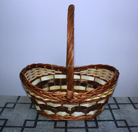 wicker and woodchip fruit basket made in china