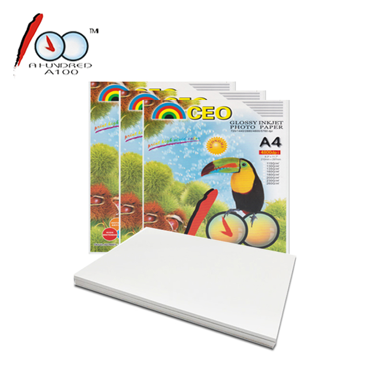 Low Price A4 230g High Glossy Waterproof Inkjet Photo Paper