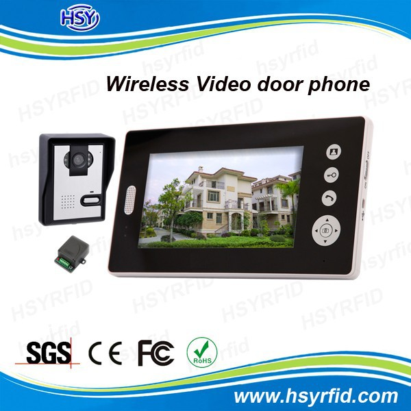 RFID access control wireless 7inch TFT video door phone intercom