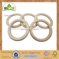 Fitness Equipment Natural Color Wooden Circles , Circle Wooden Ring