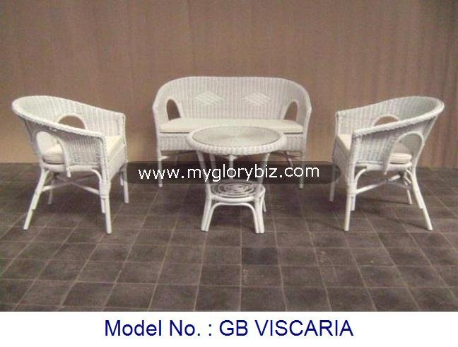 Special White Indoor Natural Rattan Furniture, Living Room Simple Antique Furniture, Rattan Sofa Set Living Room