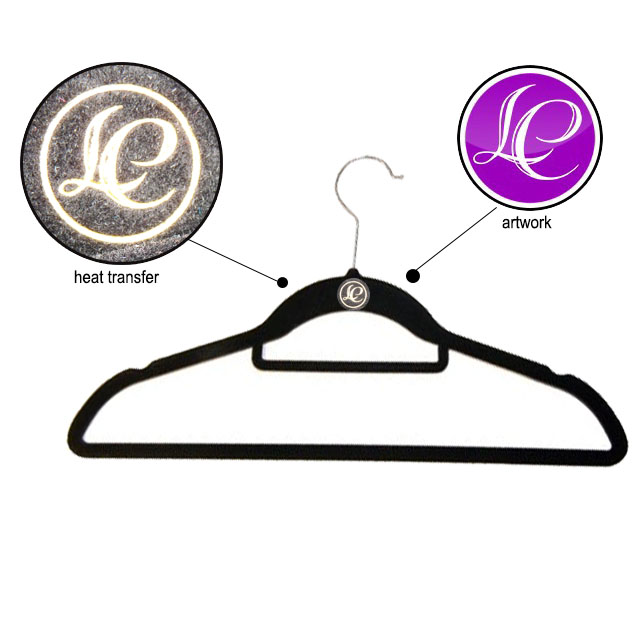 CR-IT889_velvet Hot selling plastic velvet hanger metal hook with low price