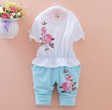 wholesale baby clothes factory new design rose pattern