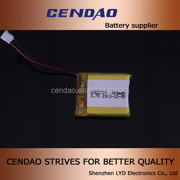 the smallest bluetooth headset 382730 li polymer battery 3.7v 300mah for bluetooth headset 740