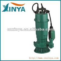 XINYA QDX series ac electric single phase sewage drainage submersible water pump price with float switch(QDX6-14-0.55)