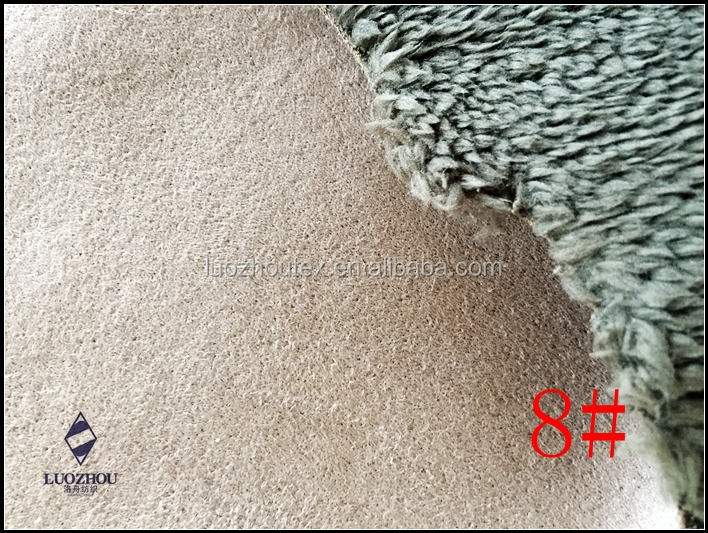 faux fur fabric with suede for garment