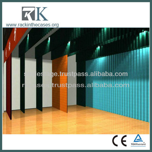 Stage clothing for men dance stage design led small stage curtain